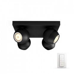Philips Hue Spot Buckram negru 4x5.5W - 5047430P7
