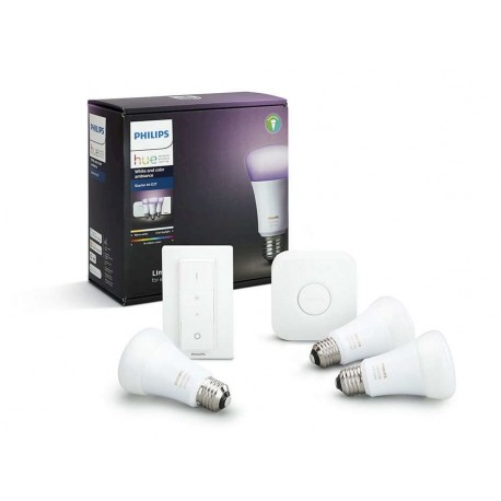 Philips Hue Starter Kit cu interupator White and Color Ambiance E27 A60 - 8718696728796